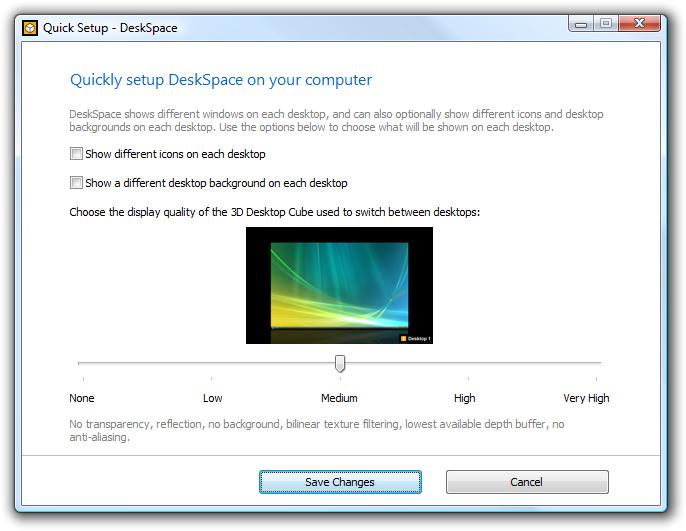 DeskSpace 1.5.8 - Quick Setup