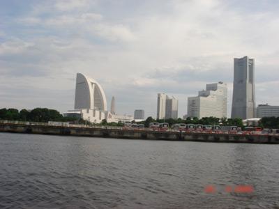 Yokohama harbour.