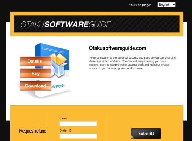 otakusoftwareguide.com Scam Site