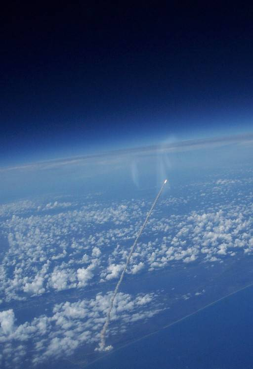 Space Shuttle Seen From Chase Plane.