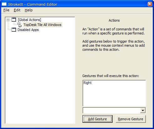 Configure StrokeIt Action