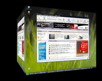 Adds 3D Virtual Desktop to