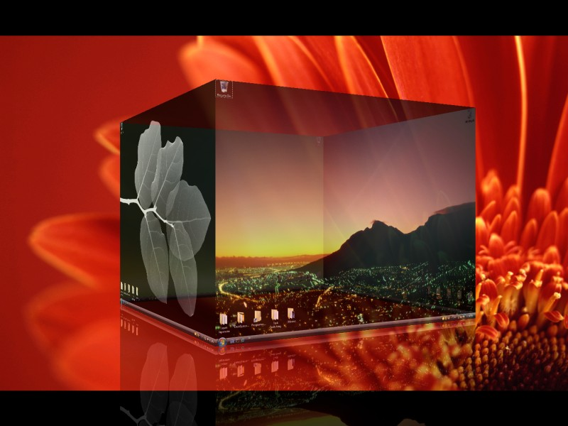 With DeskSpace, you can display multiple desktops in stunning 3D.