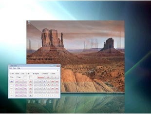 You can easily move windows between desktops by dragging them to the edge of the screen.